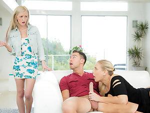 Slutty mom having sex with daughter's boyfriend