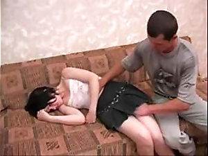 Young Brunette Sister Forced Sex By elder Brother